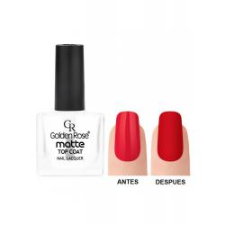 Esmalte Top Coat Matte Golden Rose